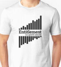 Entitlement - black print Unisex T-Shirt