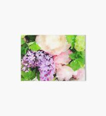 Peony Flower Bouquet  Art Board