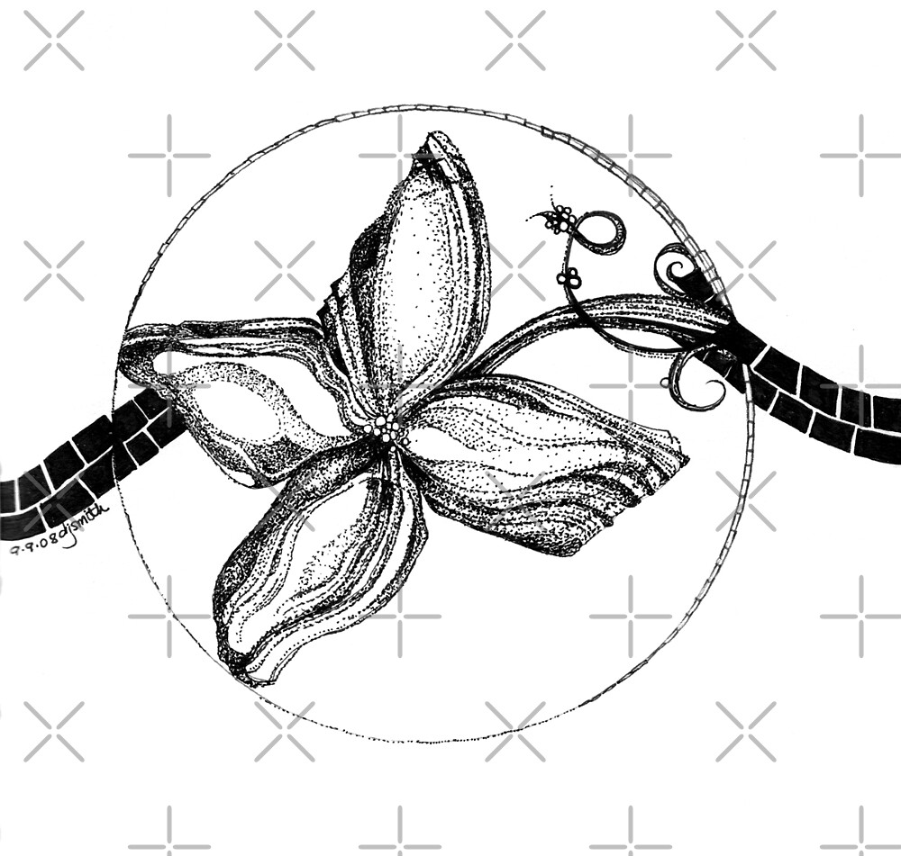 Serene, Ink Drawing by Danielle Scott