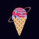 Neon Planet Ice Cream by jezkemp