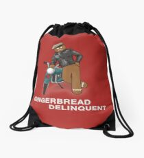 Gingerbread Delinquent Drawstring Bag