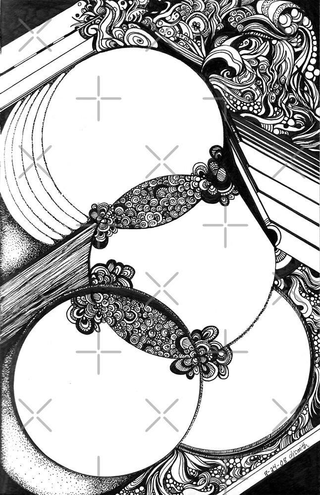 Interwoven, Ink Drawing by Danielle Scott