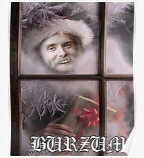 Xmas Burzum - Santa Varg Poster