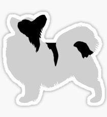 Papillon (Black and White) Sticker