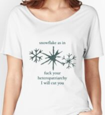 Snowflake Women's Relaxed Fit T-Shirt