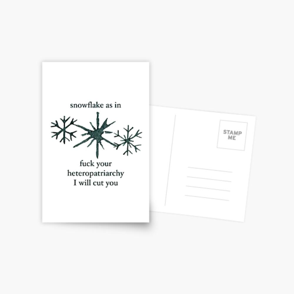 Snowflake Postcard