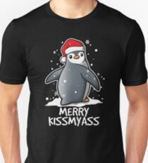 Penguin merry kissmyass christmas sweater T-Shirt