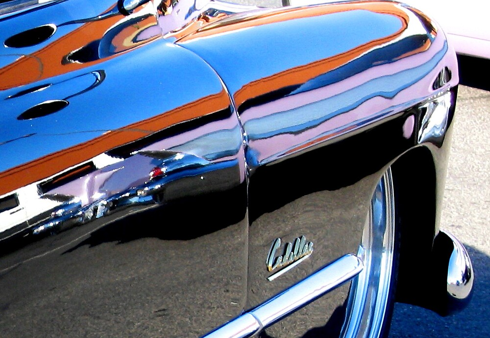 57 Chevy in a 1949 Cadillac fender by lizalady