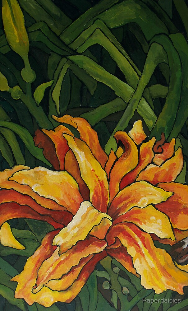 Double daylily by Paperdaisies
