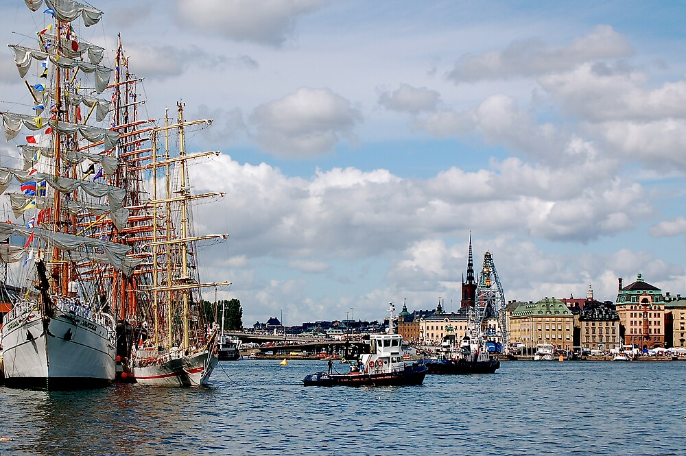 Tall Ship in harbor by pulsdesign