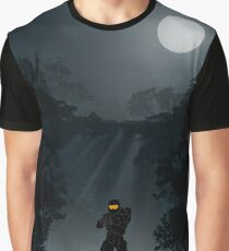 Warriors Landscapes - Halo - Master Chief Graphic T-Shirt