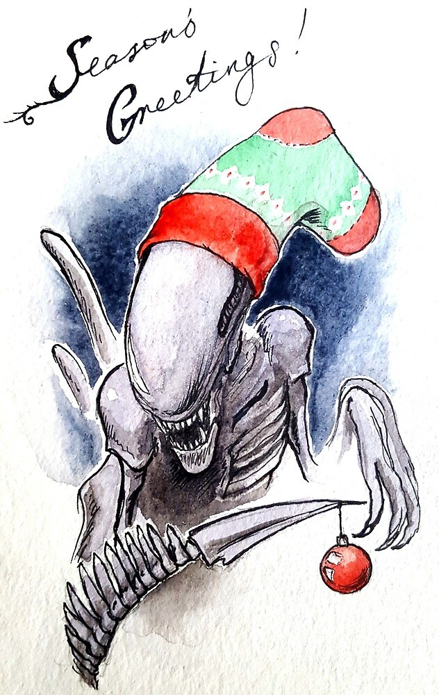 Horror Holidays - Extraterrestrial Holiday by alexandrajeanne