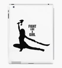 Serenity Firefly River silhouette fight like a girl iPad Case/Skin
