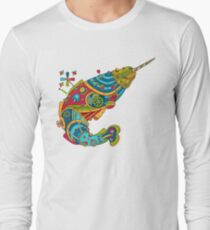 Narwhal, cool art from the AlphaPod Collection Long Sleeve T-Shirt