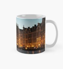 Brussels - Grand Place Facades Golden Glow Mug