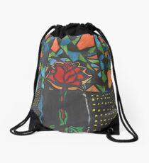 City Rose Abstract Water Color Drawstring Bag