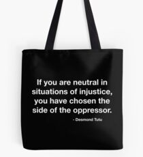 Desmond Tutu Oppressor Quote Tote Bag