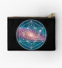 Andromeda Geometry Galaxy, Outer Space, Geometric Mandala, Science Studio Pouch