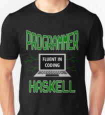 Retro Programmer Design Fluent in Coding Haskell Unisex T-Shirt