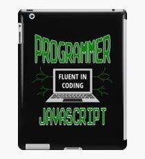 Retro Programmer Design Fluent in Coding JavaScript iPad Case/Skin