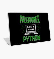 Retro Programmer Design Fluent in Coding Python Laptop Skin
