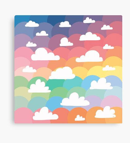 Clouds and Rainbows Canvas Print
