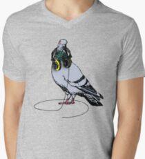 Techno Pigeon Men's V-Neck T-Shirt
