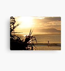 Laura - Sunset Glide Canvas Print