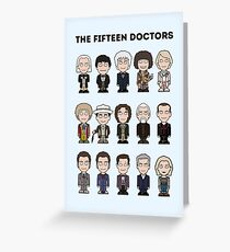 The Fifteen Doctors Greeting Card