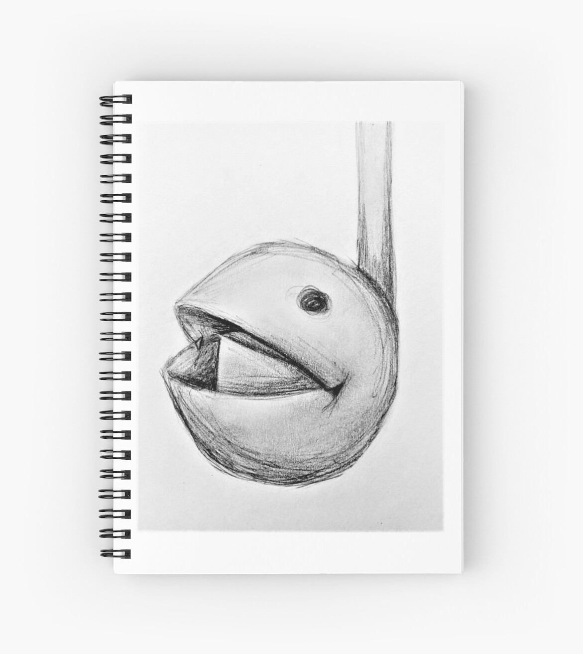 Otamatone pencil sketch