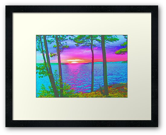 Cottage Sunset at Lake CatchaComa,-Available As Art Prints-Mugs,Cases,Duvets,T Shirts,Stickers,etc by born30