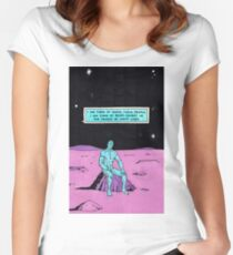 dr manhattan i'm tired Women's Fitted Scoop T-Shirt
