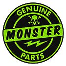 Genuine MONSTER PARTS green by thatstickerguy