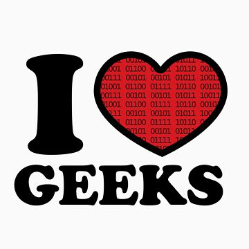 I Love Geeks Binary (Red) by LauraClitheroe