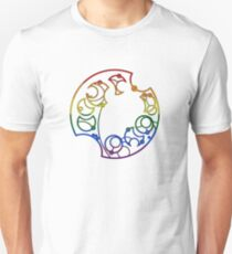 Here and Queer -- Rainbow Unisex T-Shirt
