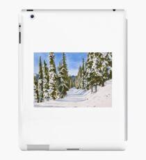 Snow Scene Watercolour Painting iPad Case/Skin