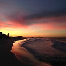 Red sky at Currumbin by Annie Smit