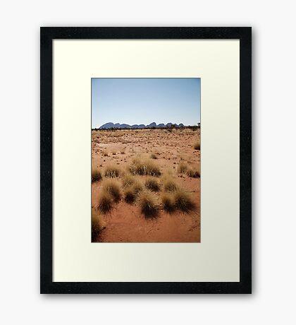 landscapes #153, desert grasses & kata tjuta Framed Print