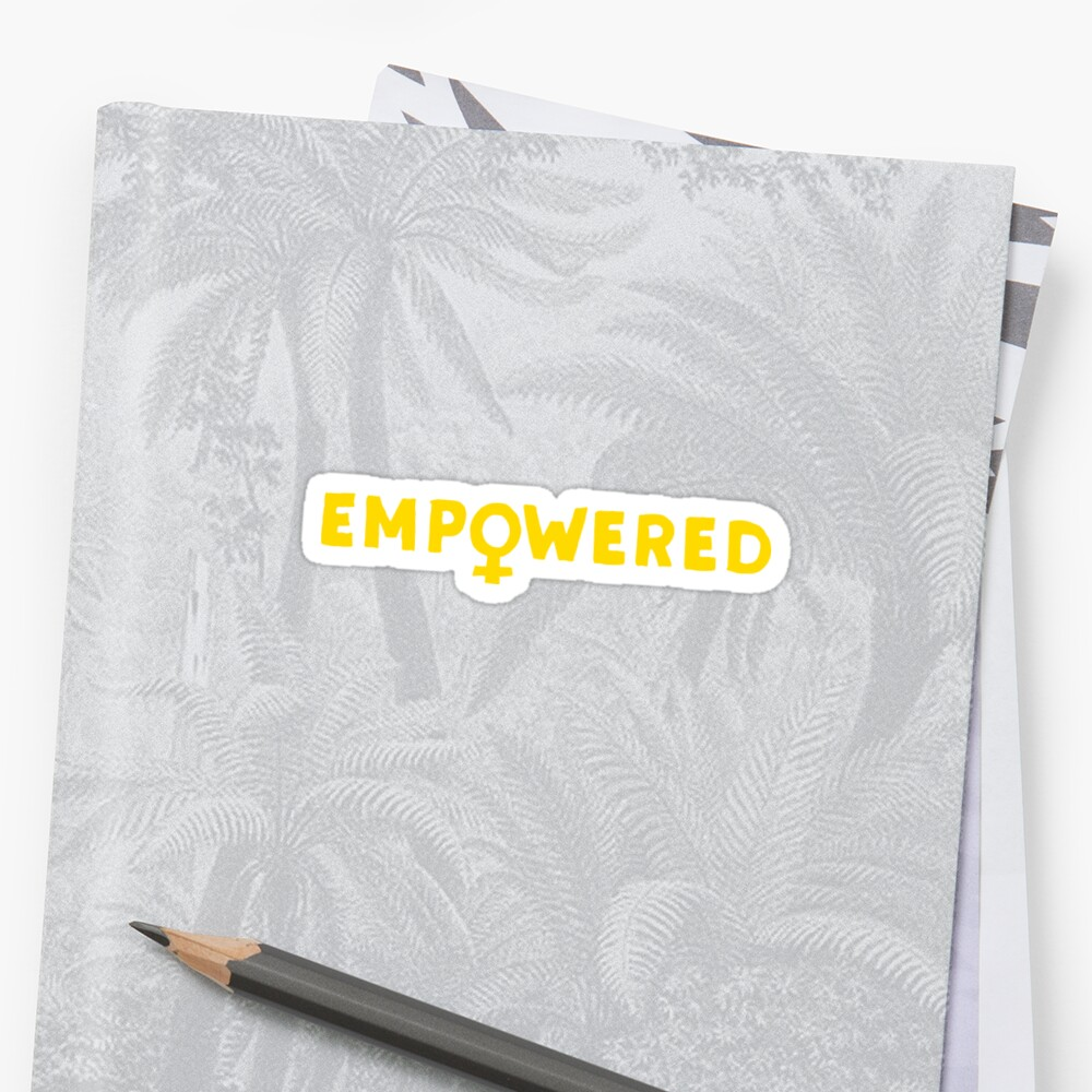 Empowered - Amarillo Pegatina