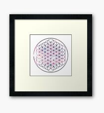 Flower of Life - Space, No background Framed Print