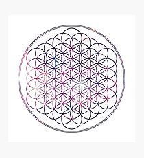Flower of Life - Space, No background Photographic Print