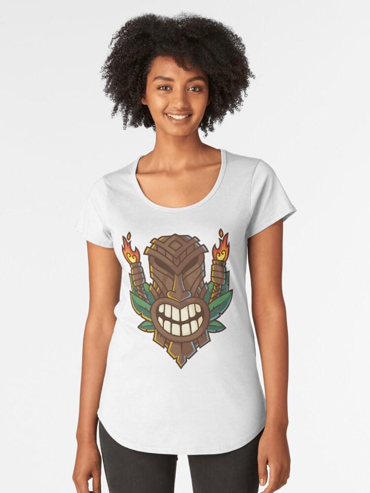 Premium De Mujer «funny Tiki Head» Camisetas Para Tribal fzqwcq7a