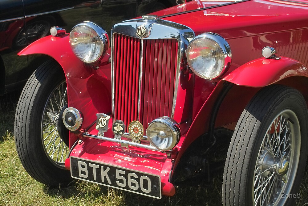 Vintage MG car by Zone8