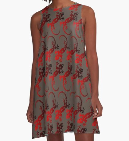 Red Lizard  A-Line Dress