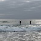 Early surf at Palm Beach by Annie Smit