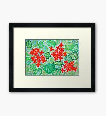 Vivid succulent vibrant shades intense red brilliant orange Framed Print