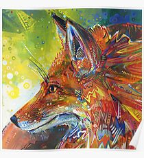Red fox painting - 2012 Poster