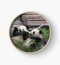Young Giant Pandas Clock