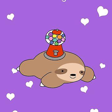 """Te amo"" Gumball Machine Sloth de SaradaBoru"