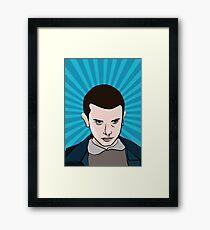 Eleven PopArt Style Movie Geek Framed Print